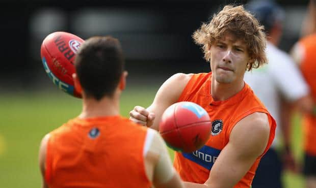 Mark Whiley will return from a calf injury in the Northern Blues' match against Coburg on Sunday. (Photo: AFL Media)
