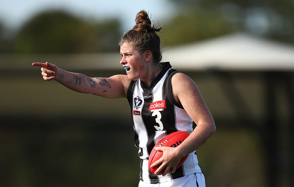 Brianna Davey will rejoin the side for this Sunday's clash. Photo: AFL Photos - Collingwood Magpies