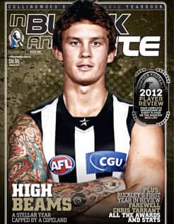 To read more about Dayne Beams' breakout season, you can purchase the 2012 In Black and White Yearbook online, at the Westpac Centre Superstore or by phoning (03) 8412 0026.