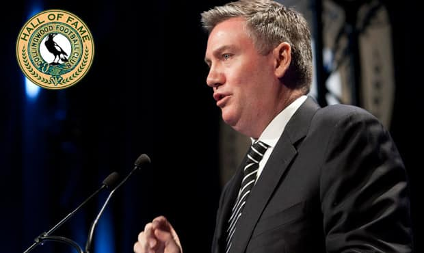 Eddie McGuire addresses the Collingwood faithful at last season's Season Launch and Hall of Fame Dinner.