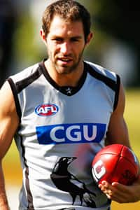 Travis Cloke is pictured during Collingwood's training session at Olympic Park Oval on Friday.