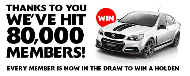 Collingwood has created Australian sporting history by reaching 80,000 members and as a result, every one of those members is now in the draw to win a Holden.