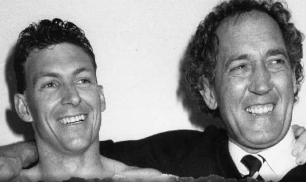 Bruce Abernethy and John Cahill celebrate Port Adelaide's 1988 SANFL premiership (The Advertiser) - Collingwood Magpies,Collingwood