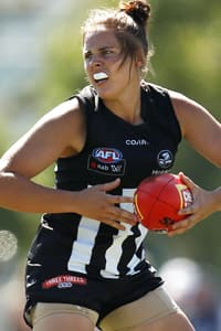 Jasmine Garner was one of Collingwood's best across centre half forward.