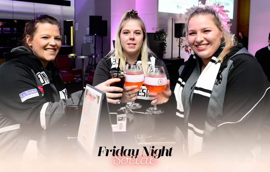 Collingwood fans at Friday night social - Collingwood Magpies
