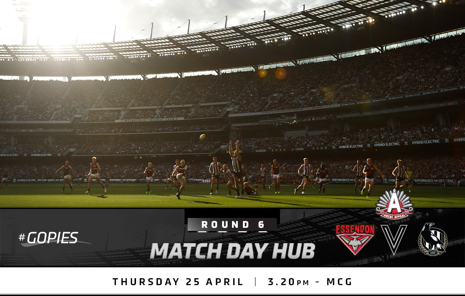 Match Day Hub: Round 6 v Essendon - collingwoodfc com au
