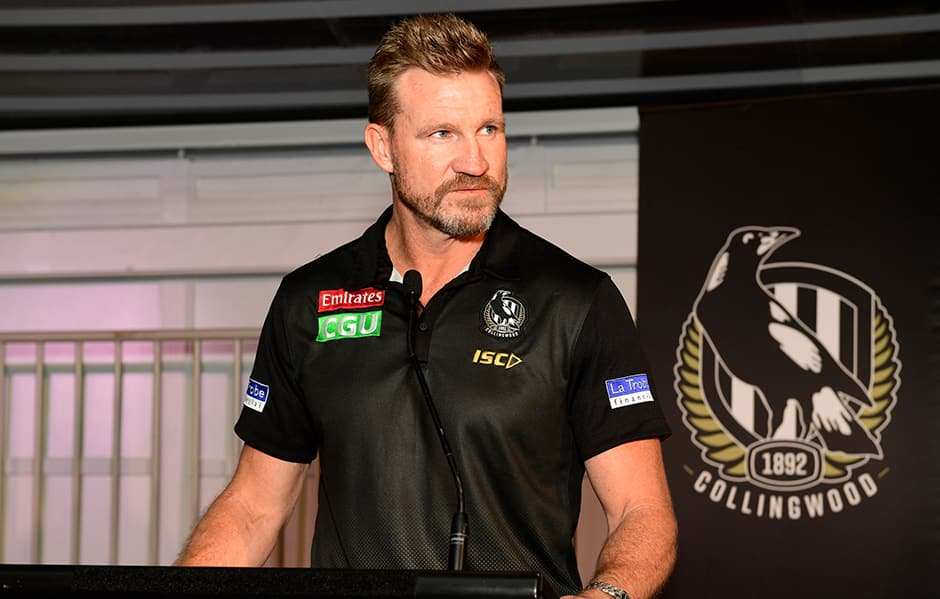 Nathan Buckley at Wednesday's season launch (Photo: SDP Media) - Collingwood Magpies