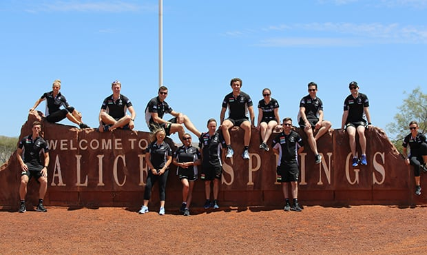 Pies at the 2018 Community Camp in Alice Springs  - Collingwood Magpies