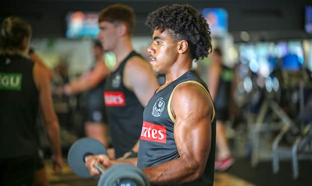 Isaac Quaynor's physique isn't that of your average draftee - Collingwood Magpies