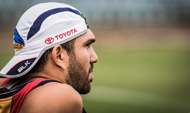 Curtly Hampton watches on during training. Picture: afc.com.au