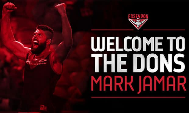 All-Australian ruckman, Mark Jamar, is set to join the Bombers for 2016