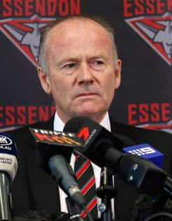 Essendon Chairman Lindsay Tanner.
