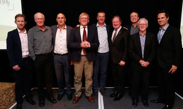 Team of the Country: Jason Johnson, Ken Fletcher, Glenn Hawker, Ian 'Bluey' Shelton, Neale Daniher, Kevin Sheedy, Terry Daniher, John Birt, Gavin Wanganeen.