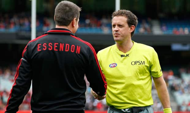 Umpires will award a point and then throw the ball up 15 metres out from goal after a deliberate rushed behind.