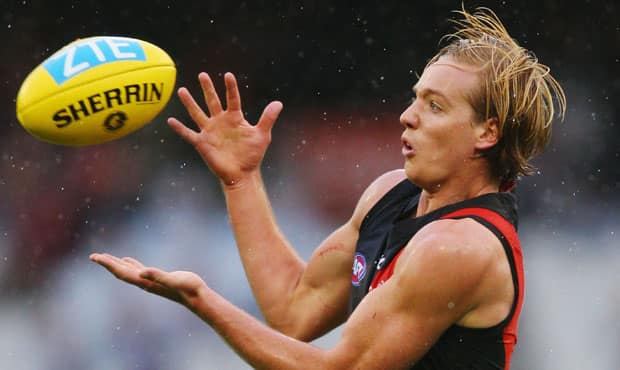 Darcy Parish is averaging 22 possessions, five marks and four tackles this season.