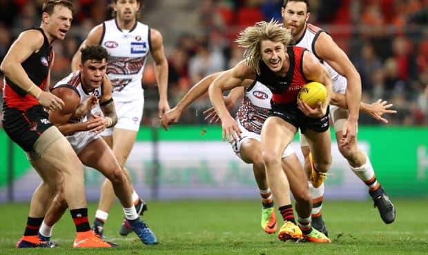 Dyson Heppell led from the front in his first season as Essendon Captain. - Essendon,Essendon Bombers,Adam Ramanauskas,Dyson Heppell,Zach Merrett,Mark Baguley,Michael Hurley,David Myers,Patrick Ambrose,Michael Hartley