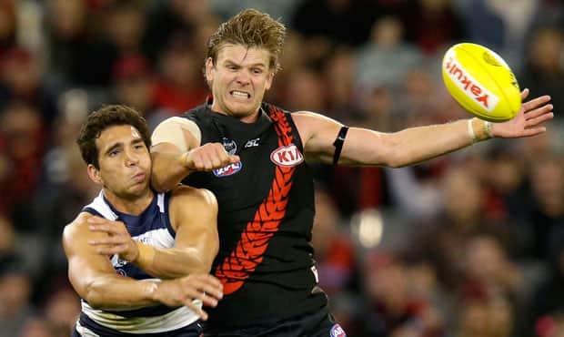 Michael Hurley was named at centre half back in the All Australian side. - Essendon,Essendon Bombers,Martin Gleeson,Zach Merrett,Anthony McDonald-Tipungwuti,Michael Hurley,Brendon Goddard,David Zaharakis