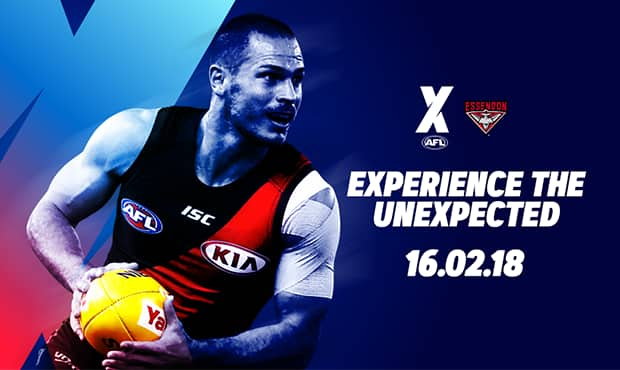 The Bombers will take on the Hawks and Saints in the inaugural AFLX competition on Friday, 16th February.