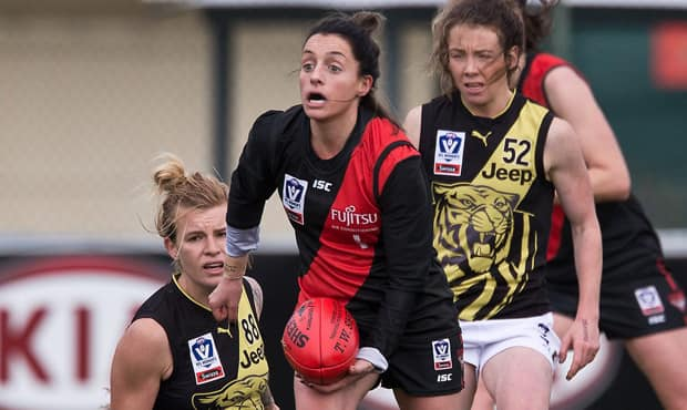 Jess Trend will be playing in the AFLW in 2019 after North Melbourne snatched up the versatile Bomber.