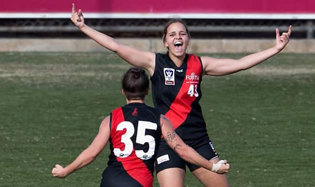 Danielle Ponter (#43) is among Essendon's leading AFLW Draft hopefuls.