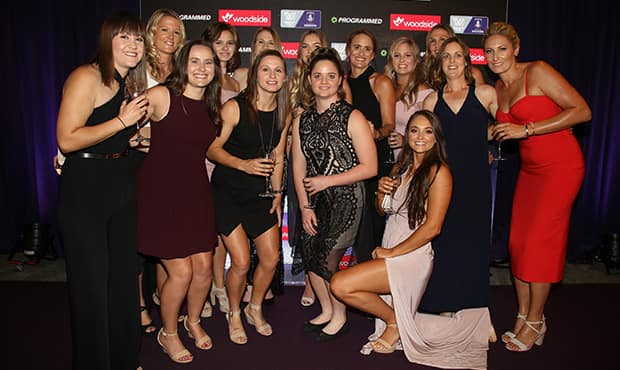 It was a night of celebration for Fremantle's inaugural AFL Women's season.