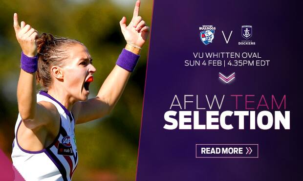 Fremantle has announced their initial squad of 23 for Sunday's clash with the Bulldogs. - Fremantle,Fremantle Dockers,AFLW