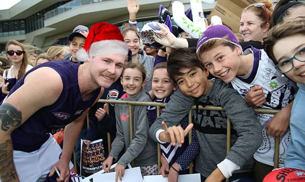 Join the players at open training before their Christmas break. - Fremantle
