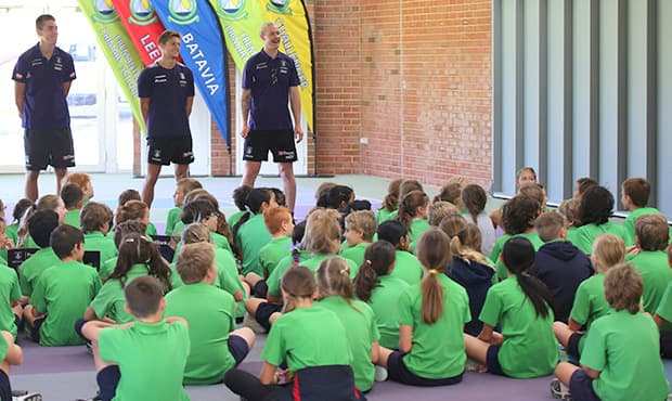 Fremantle players will be visiting schools around the Peel and Wheatbelt regions.