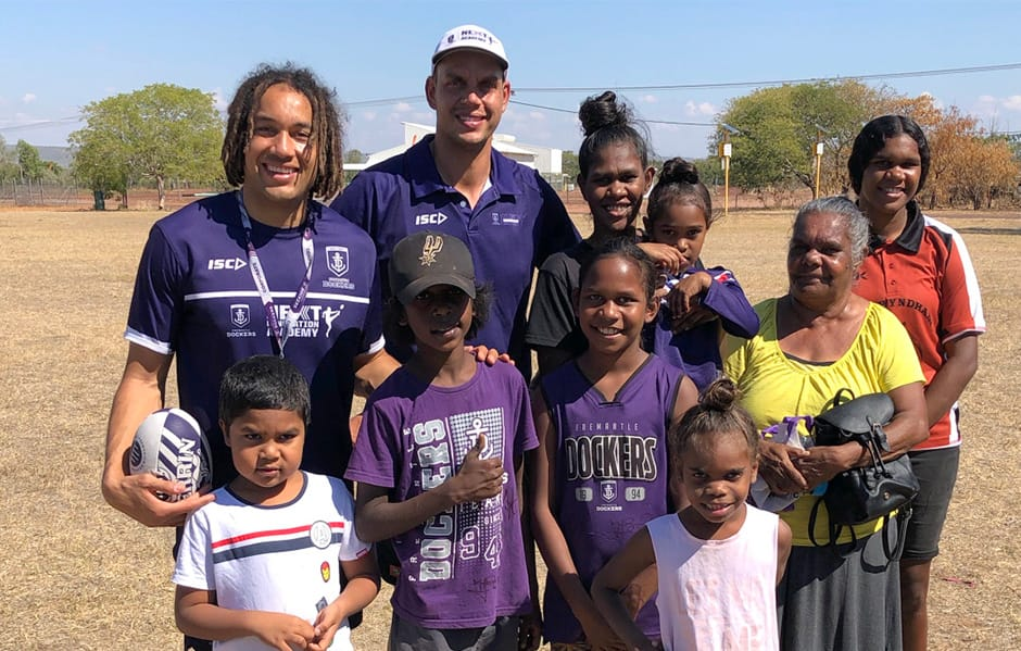 Fremantle's Next Generation Academy are in the Kimberley this week. - Fremantle,Fremantle Dockers