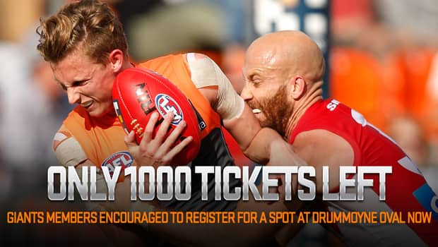 Don't miss out on the GIANTS' NAB Challenge match at Drummoyne Oval with tickets selling fast.