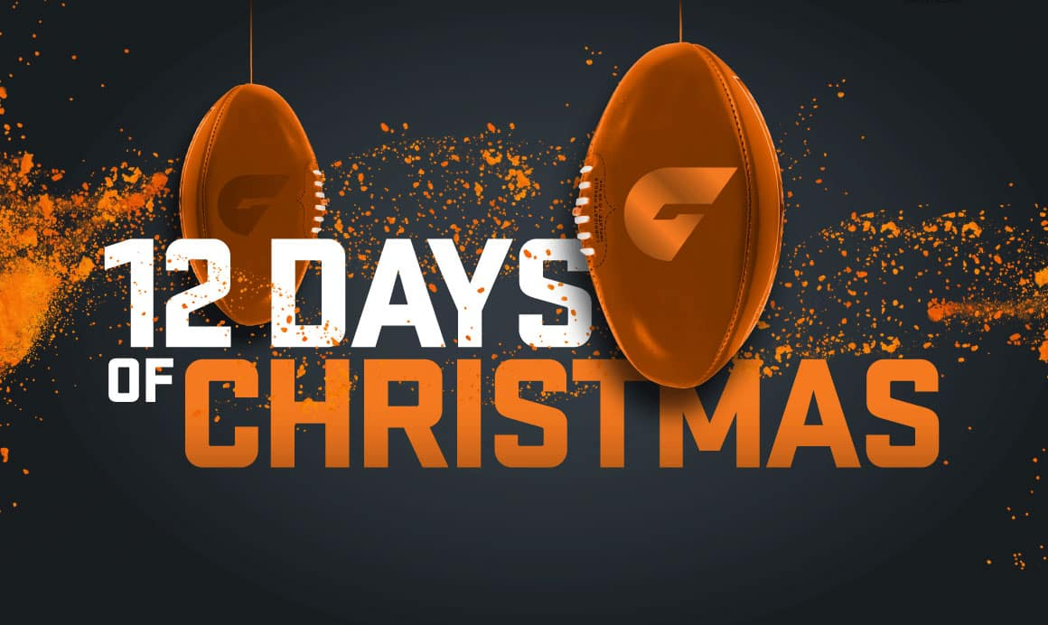 The only way to be part of the 12 Days of Christmas is to be a GIANTS member in 2018! - GWS Giants