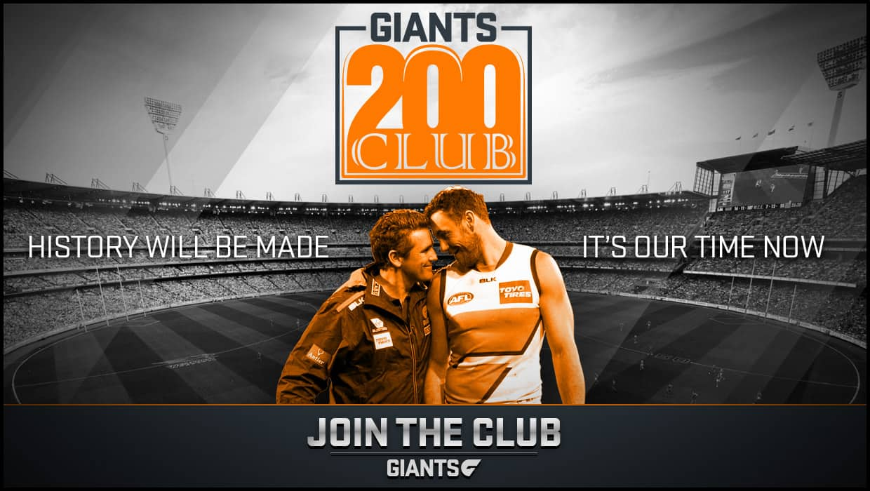 Be part of the GIANTS journey in 2016 as we head towards our maiden finals series.