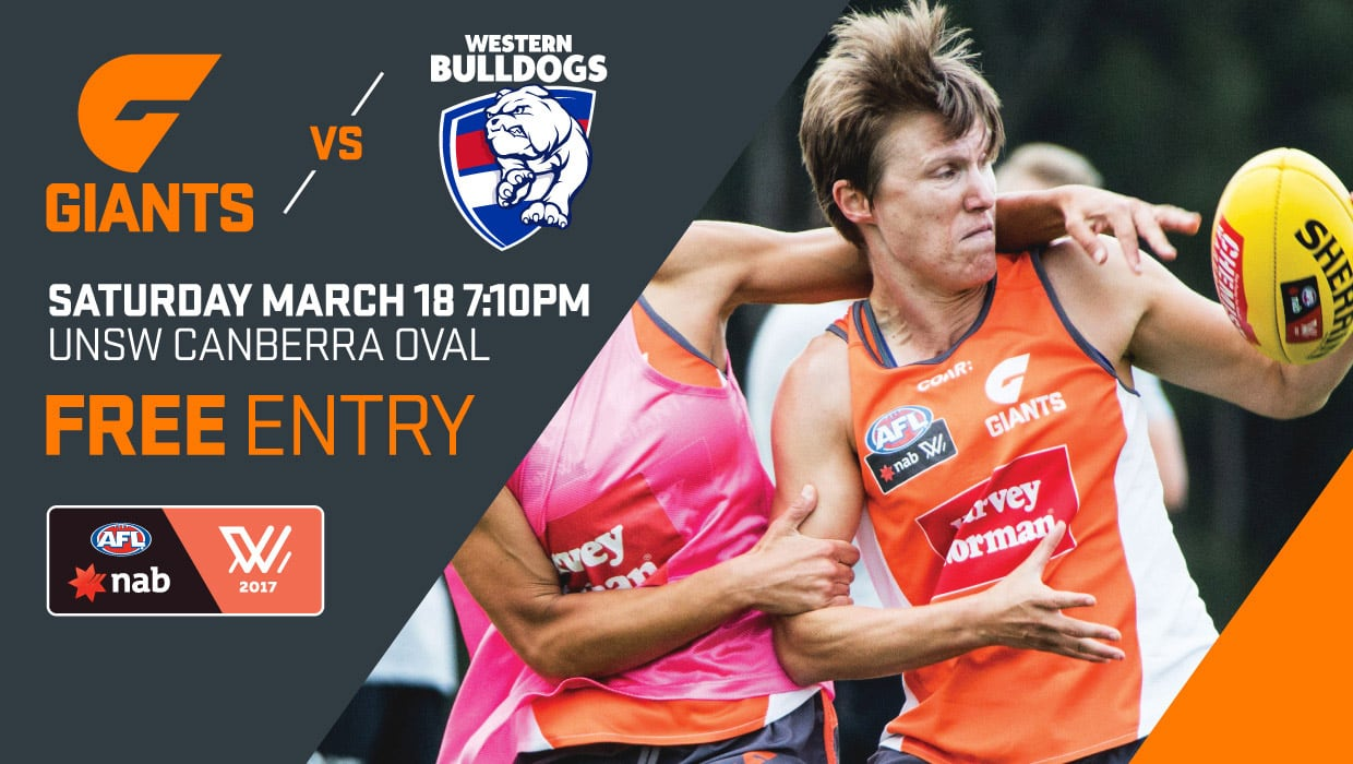 Come and experience AFLW live for the first time in Canberra at UNSW Canberra Oval on Saturday night.