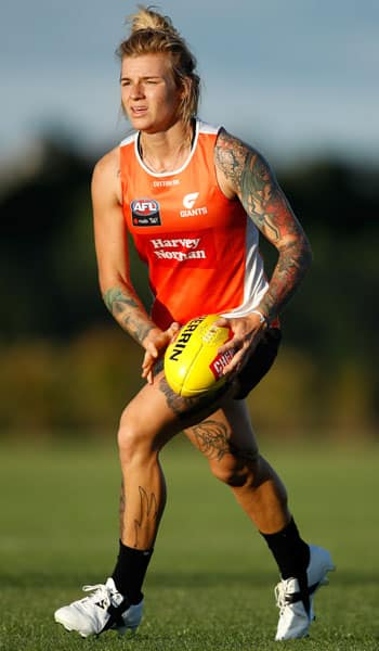 Phoebe Monahan is set to make her AFLW debut on Friday night. - AFLW,GWS Giants,Drummoyne Oval,Carlton Blues