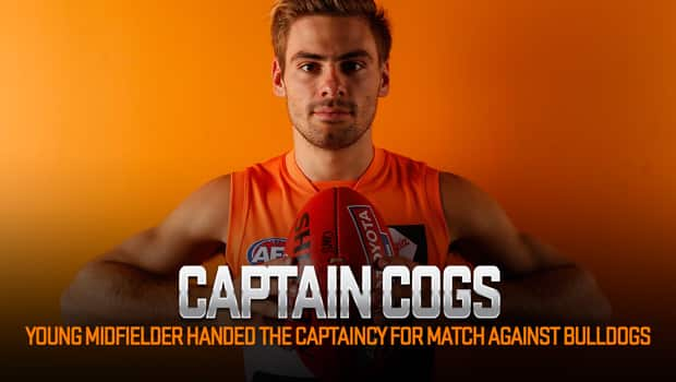 Stephen Coniglio will captain the side against the Bulldogs in Canberra on Thursday.
