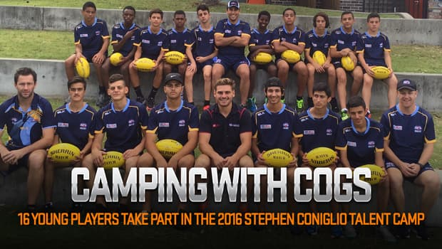 Stephen Coniglio at the Stephen Coniglio Talent Camp at the Redfern National Centre of Indigenous Excellence.