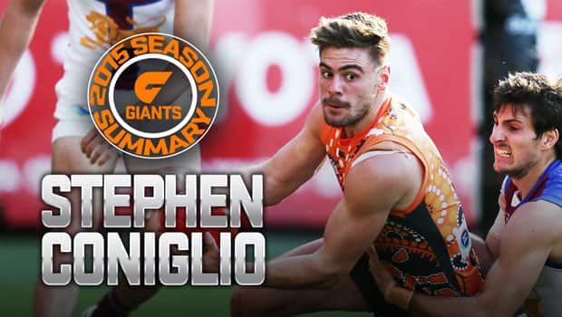 Stephen Coniglio averaged a career-high 23 disposals per match this season.