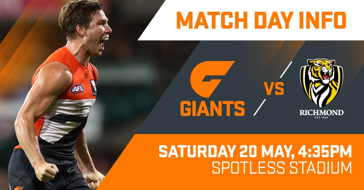 All the information you need to know as the GIANTS clash with the Tigers in a huge game at Spotless Stadium.
