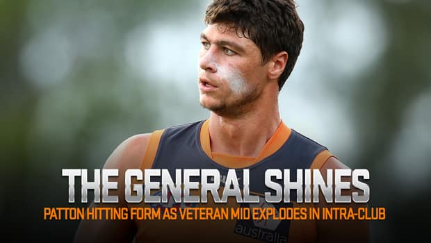 Jon Patton made a sparking return in the GIANTS' first hit-out of 2016.