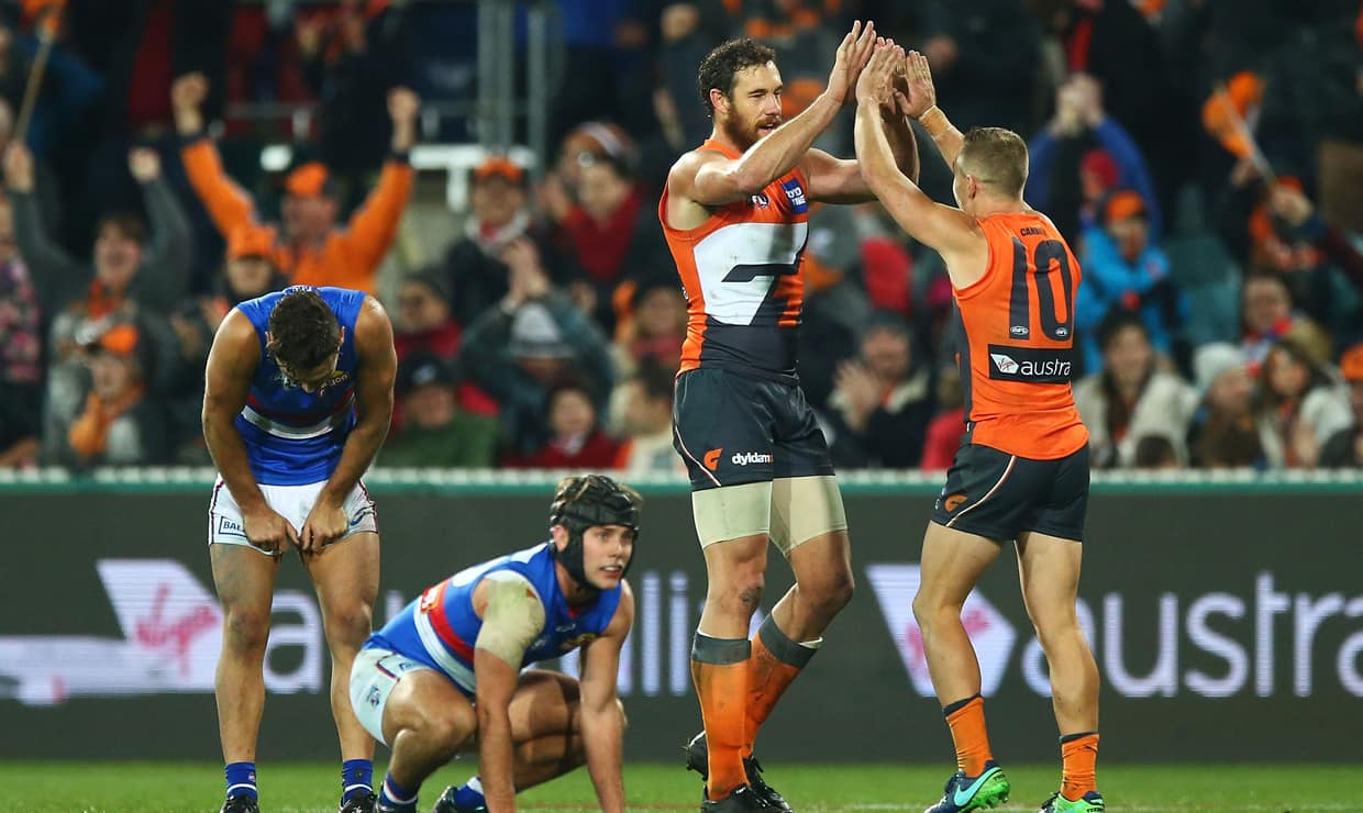 The GIANTS and Bulldogs will go head-to-head under Friday night lights at Etihad Stadium.
