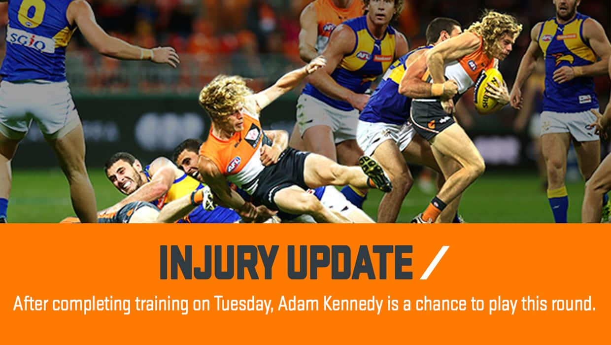 All the latest injury news ahead of the GiANTS' clash with Fremantle on Saturday at Spotless Stadium.