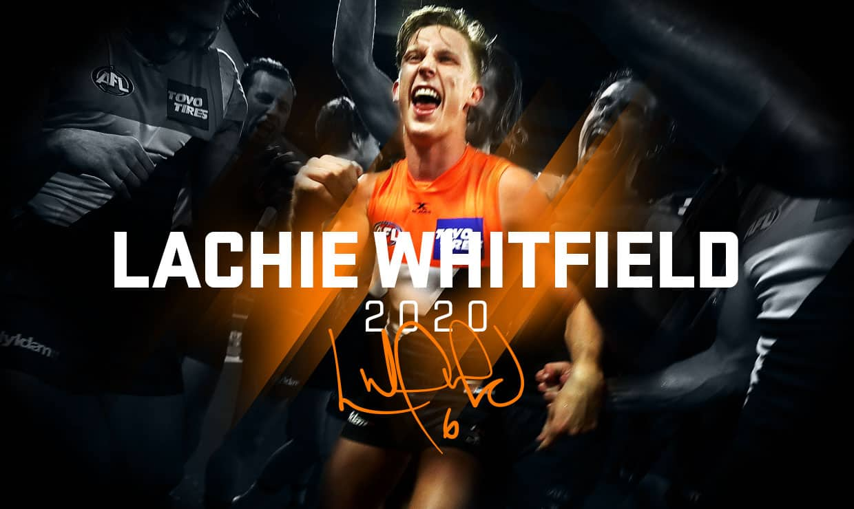 Lachie Whitfield will remain in the orange and charcoal until at least the end of 2020. - Lachie Whitfield,GWS Giants