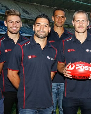 Stephen Coniglio with fellow ambassadors Paul Puopolo, Alipate Carlile and David Zaharakis.