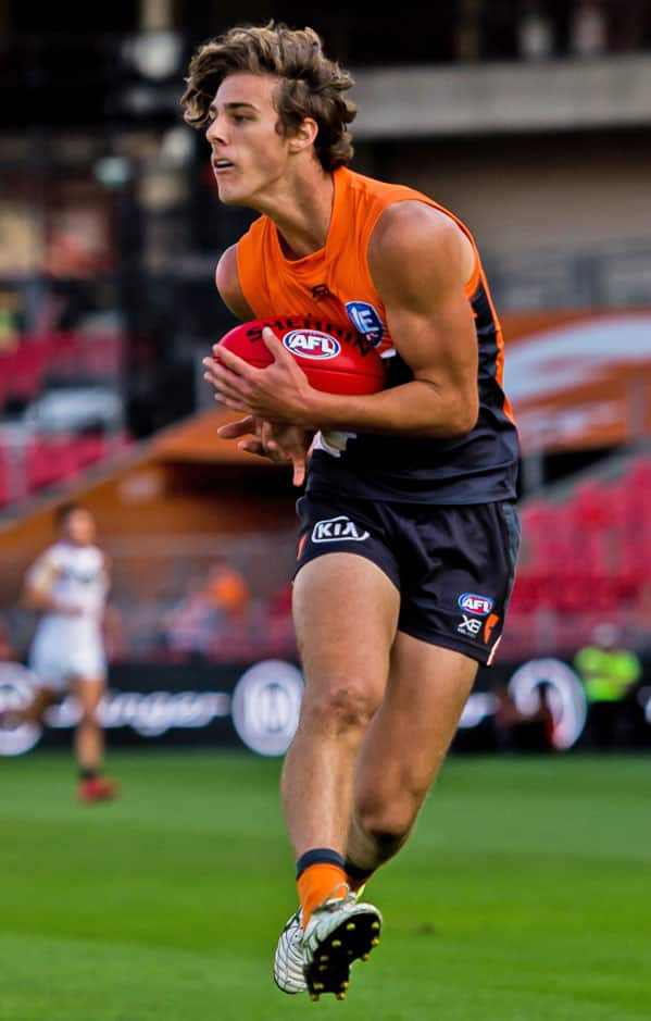 James Peatling takes a mark during the GIANTS' NEAFL win over Southport. Photo: Brad Redfern - GWS Giants,NEAFL,Southport