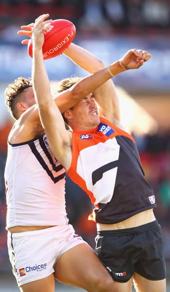 Jeremy Cameron will need to continue his strong goalkicking form if the GIANTS are to overcome an in-form Fremantle on Saturday. - GWS Giants,Fremantle,Fremantle Dockers,AFL,UNSW Canberra Oval