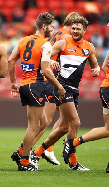 Callan Ward was the GIANTS best on ground in his 200th game. - GWS Giants,AFL,West Coast Eagles,Spotless Stadium,Callan Ward