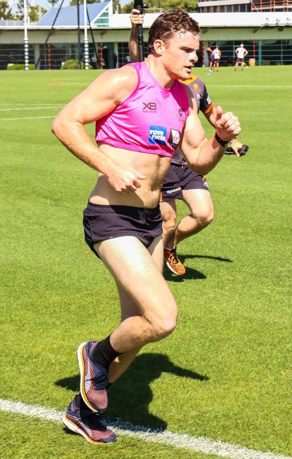 Heath Shaw moved well in Wednesday's 2km time trial. - AFL,GWS Giants,Tommy Sheridan,Adam Tomlinson