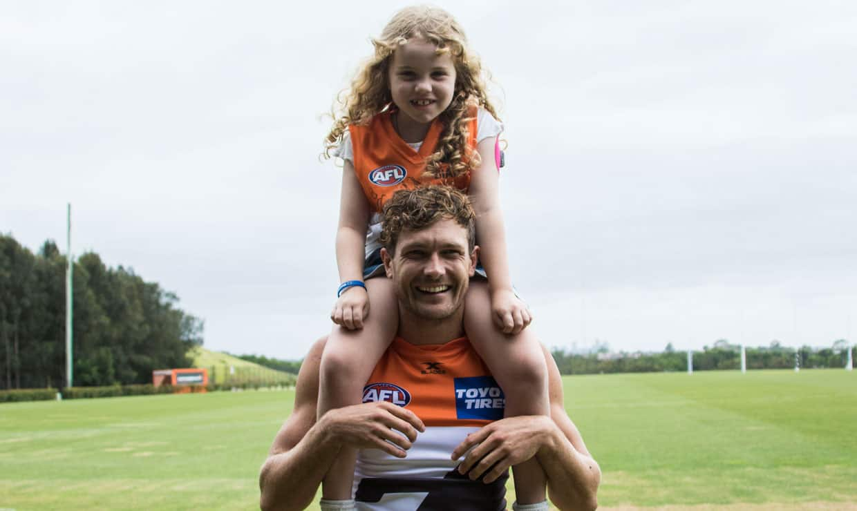 Lucy Poile and GIANT Sam Reid share a unique bond. - GWS Giants,AFL,Sam Reid,Sam J Reid
