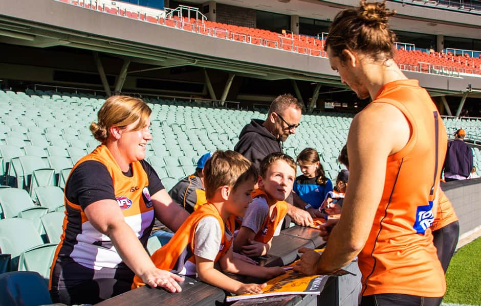 The GIANTS will hold an open training session at Adelaide Oval on Friday. - GWS Giants,AFL,Adelaide Crows,Adelaide Oval