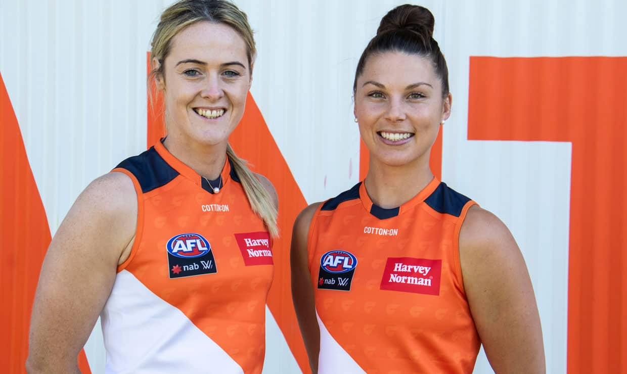 Gaelic Football star Yvonne Bonner and former GIANTS Netballer Taylah Davies have joined the GIANTS as rookie signings for the 2019 AFL Women's season. - AFLW,GWS Giants